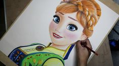 Speed Drawing: Anna (Frozen Fever) | Diana Díaz - YouTube