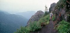 The 8.0 mile roundtrip jaunt to Charlies Bunion, located on the Appalachian Trail, is a popular day hike (Smoky Mountains)