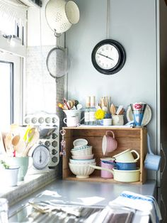 This crate works well in the kitchen to add extra space. Houzz never has a shortage of creative ideas!