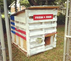 building plans for pallet chicken coops | Pallet Chicken Coop out of Recycled Pallets | Pallet Furniture DIY