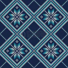Knitted Sweater Design. Seamless Pattern photo