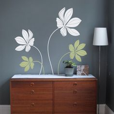 """Bring nature into your home with this elegant design!   Overall Size (approx): 44""""w x 55""""h   [Whats Included] > 2 Large Cyclamen Flowers > 2 Small"""