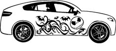 NIGHTMARE BEFORE CHRISTMAS JACK SKELLINGTON SIDE GRAPHIC VINYL TRIBAL DECAL CAR #UnbrandedGeneric