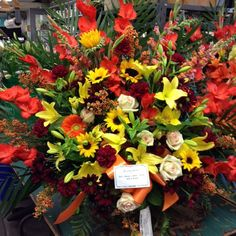 #tribute #sympathy #funeral #fallcolors #flowers