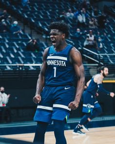 """Minnesota Timberwolves on Instagram: """"19 YEARS YOUNG. 🐜 🐜 🐜"""" Basketball Stuff, Nba Basketball, Anthony Edwards, Basketball Photography, Minnesota Timberwolves, Nba Players, 4 Life, College, Paper"""