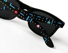 Custom Wayfarer style sunglasses Pacman unique hand by ketchupize