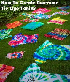 How To Create Awesome Tie Dye T-Shirts Awsome Shirts Ideas of Awsome Shirts - Awsome Shirts - Ideas of Awsome Shirts - How To Create Awesome Tie Dye T-Shirts Awsome Shirts Ideas of Awsome Shirts tye dye camisetas fácil Shibori, Summer Crafts, Crafts For Kids, Arts And Crafts, How To Tie Dye, How To Dye Fabric, Tye Dye, Tie Dye Crafts, Diy Crafts
