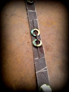 Acid Seaweed Distressed Chocolate Leather by MetalChocolate, $26.00
