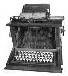 In 1868 Christopher Sholes invented the first commercially successful typewriter in the United States utilizing the QWERTY keyboard layout in an effort to reduce the frequency of typebar jams. Why this is still the default English keyboard used today is a mystery.