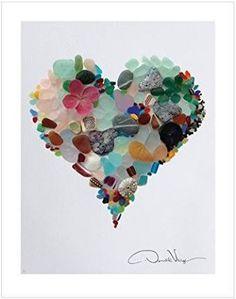 Afbeeldingsresultaat voor sea glass hearts art
