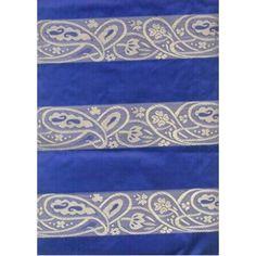 silk taffeta jacquard~turquoise blue