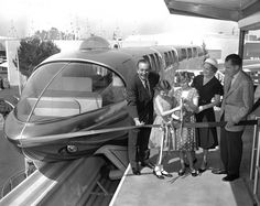 Vice President and family to meet with Walt Disney at the Monorail Station for press photographs on the dedication of the Monorail