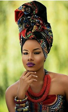 Gorgeous...Lady & Headwrap