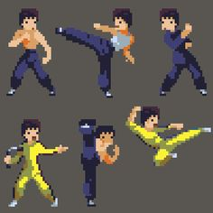Bruce Lee by HendryRoesly.deviantart.com on @DeviantArt  #pixelart