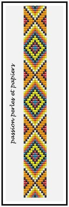 Geometric loom bracelet pattern