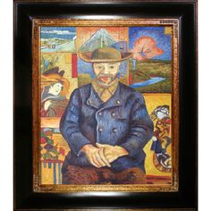 Vincent Van Gogh 'Portrait of Pere Tanguy' Hand Painted Framed Art