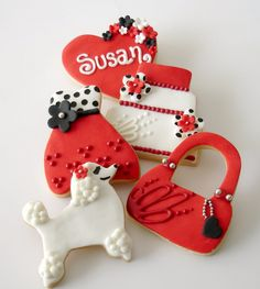 A custom set of chic set of designer cookies makes a unique and delicious gift! order@lvsweets.com