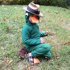 New Perry the Platypus costume tutorial by Dot D, via Flickr