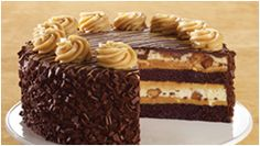 Ok so maybe it's peanut butter, chocolate and cheesecake I love. Thank you Cheesecake Factory! Cheesecake Cake, Cheesecake Recipes, Dessert Recipes, Wedding Cheesecake, Peanut Butter Desserts, Reeses Peanut Butter, Just Desserts, Delicious Desserts, Cheesecake Factory Copycat