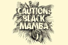CAUTION BLACK MAMBA on Behance: