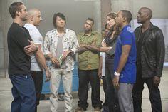 Fast Five: Paul Walker (Brian O'Conner), Vin Diesel (Dominic Toretto), Sung Kang (Han), Tyrese Gibson (Roman Pearce), Tego Calderon (Tego Leo), Don Omar (Rico Santos), Gal Gadot (Gisele Harabo), Ludacris (Tej Parker)