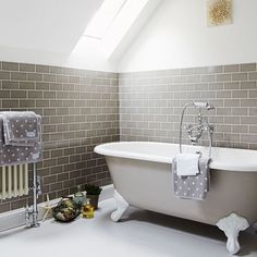 Grey bathroom | Be inspired by this Hampshire family haven | housetohome.co.uk
