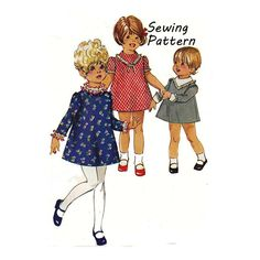 Simplicity 7882 Toddler Girl's A-Line by patternmemories on Etsy