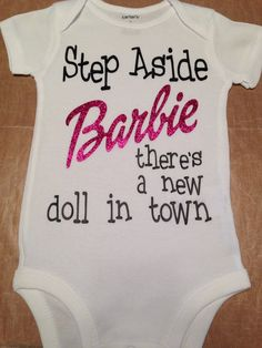 Perfect way to announce your baby girls arrival! This includes glitter for the word Barbie. If you would like, you may request different colors for