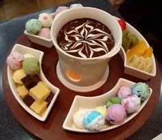 ice cream fondue