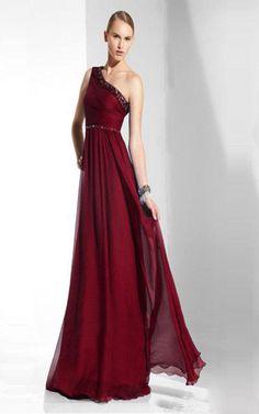 Hali V Neck Full Length Red BCBG Evening Gown | Fashion ...