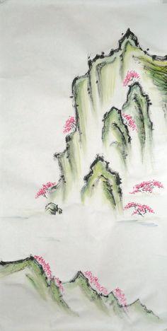 Sumi-e: Spring Landscape by catherinejao.deviantart.com on @deviantART   ::)