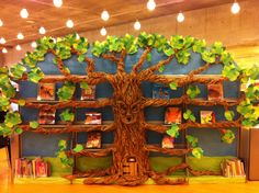 Summer! The tree in the Central Library's children's room is in full bloom.