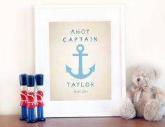 Customized Nautical Anchor Print 8x10 -$25
