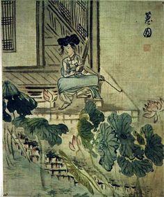 Korean Traditional art by Shin Yun-bok Korean Painting, Chinese Painting, Chinese Art, Asian Artwork, Artwork Images, Korean Traditional, Traditional Art, Comic Pictures, T Art