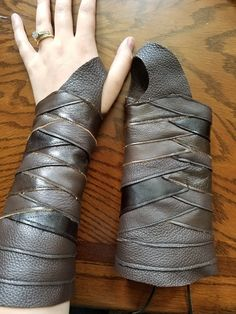 This is essentially the same pattern as my Gamora Bracer, but this one is laced in in some natural brown tones.