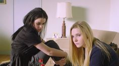 Georgie Henley and Abigal Breslin  as Beth and Mary in Perfect Sisters.
