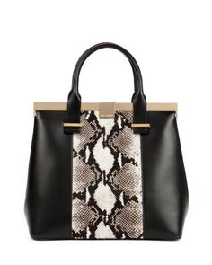 Exotic leather tote bag - Black   Bags   Ted Baker UK