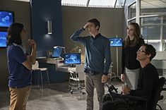 Tom Cavanagh, Danielle Panabaker, Grant Gustin, and Carlos Valdes in The Flash (2014)