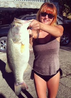 Sara Roach caught this 21-inch 5.7-pound bass caught in Malibu Lake Oct. 6