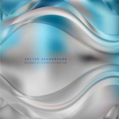 Abstract Gray Turquoise Curve Background #freevectors