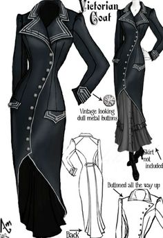 Victorian Coat by Amber Middaugh - more → http://sherryfashiondesignblog.blogspot.com/2012/06/victorian-coat-by-amber-middaugh.html