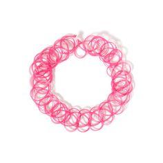 タトゥーチョーカー「BUBBLES ONLINE STORE【バブルス公式通販サイト】」 ❤ liked on Polyvore featuring tops, pink top and bubble top