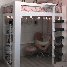 Loft Beds Adults College Dorm Furniture starting at 18895 More Than A Furniture Store Loft - Loft Beds For Teens, Adult Loft Bed, Bed For Girls Room, Girl Room, College Loft Beds, Teen Loft Bedrooms, Bohemian Bedrooms, Eclectic Bedrooms, Dorm Room Designs