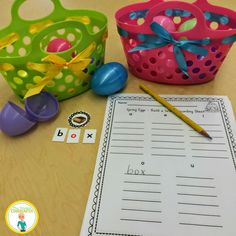Build and record CVC words with this fun Easter Literacy Center! Just add eggs! Daily 5 Kindergarten, Kindergarten Activities, Literacy Work Stations, Writing Centers, Easter Activities, Cvc Words, Creative Teaching, Teaching Ideas, Struggling Readers