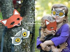 DIY Animal Masks: DIY Halloween DIY Costumes: DIY Felt animal masks