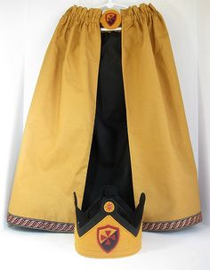 Noble Knight Cape and Crown Set