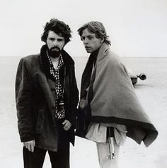 On the set: Star Wars - George Lucas & Mark Hamill