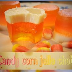Candy Corn Jello Shooters