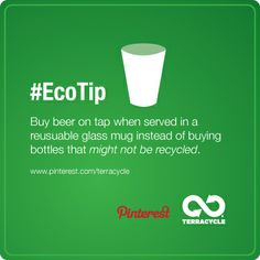 The perfect #EcoTip to remember before going out with friends