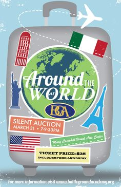 around the world party Around The World Theme, Around The World In 80 Days, Around The Worlds, Gala Themes, Party Themes, Theme Ideas, Party Ideas, Dance Themes, School Auction